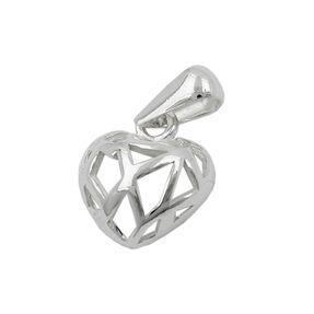Anhänger Silberanhänger, Herz durchbrochen, 925 Silber, für Damen