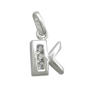 Anhänger-Buchstabe-K-mit-Zirkonia-925-Silber