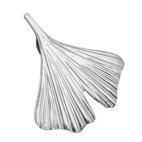 Anhänger Silberanhänger, Ginkgoblatt, echtes 925 Sterlingsilber, Damen