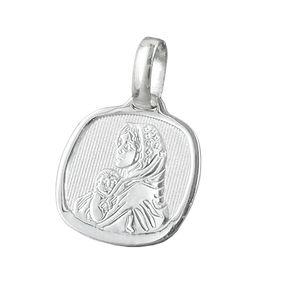 Anhänger Silberanhänger, Maria mit Jesuskind klein, 925 Silber, Unisex