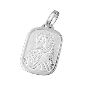 Anhänger Silberanhänger, Maria mit Jesuskind, 925 Echtsilber, Unisex