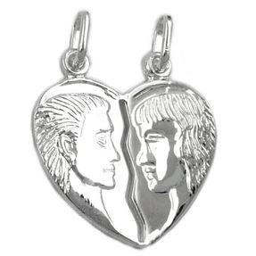 Doppelanhänger-Herz-925-Silber