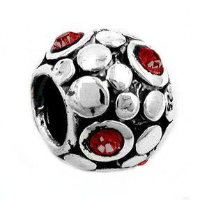 Anhänger-Perle-bead-Kugel-Kristall-rot-925-Silber