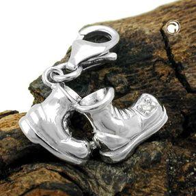 Einhänger-ein-Paar-Wanderschuhe-925-Silber