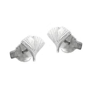 7mm-Ohrstecker-Ginkgoblatt-925-Silber-mattiert