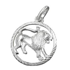 Anhänger Kettenanhänger, Sternzeichen Löwe aus 925 Silber, Unisex