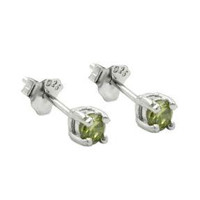 3mm-Ohrstecker-Glas-oliv-925-Silber