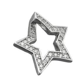 Anhänger Stern mit vielen Zirkonias weiß Kettenanhänger aus 925 Silber