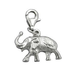 Anhänger Elefant Einhänger Charm aus 925 Silber rhodiniert, Damen