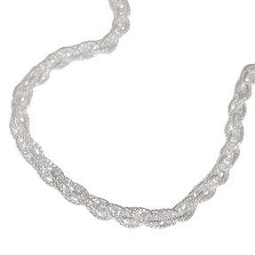 3mm Doppelankerkette Halskette Kette Collier, 925 Silber, 50cm, Unisex
