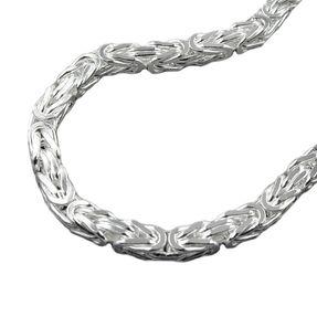 6mm Königskette Halskette Kette Halsschmuck, 925 Silber, 55cm, Herren