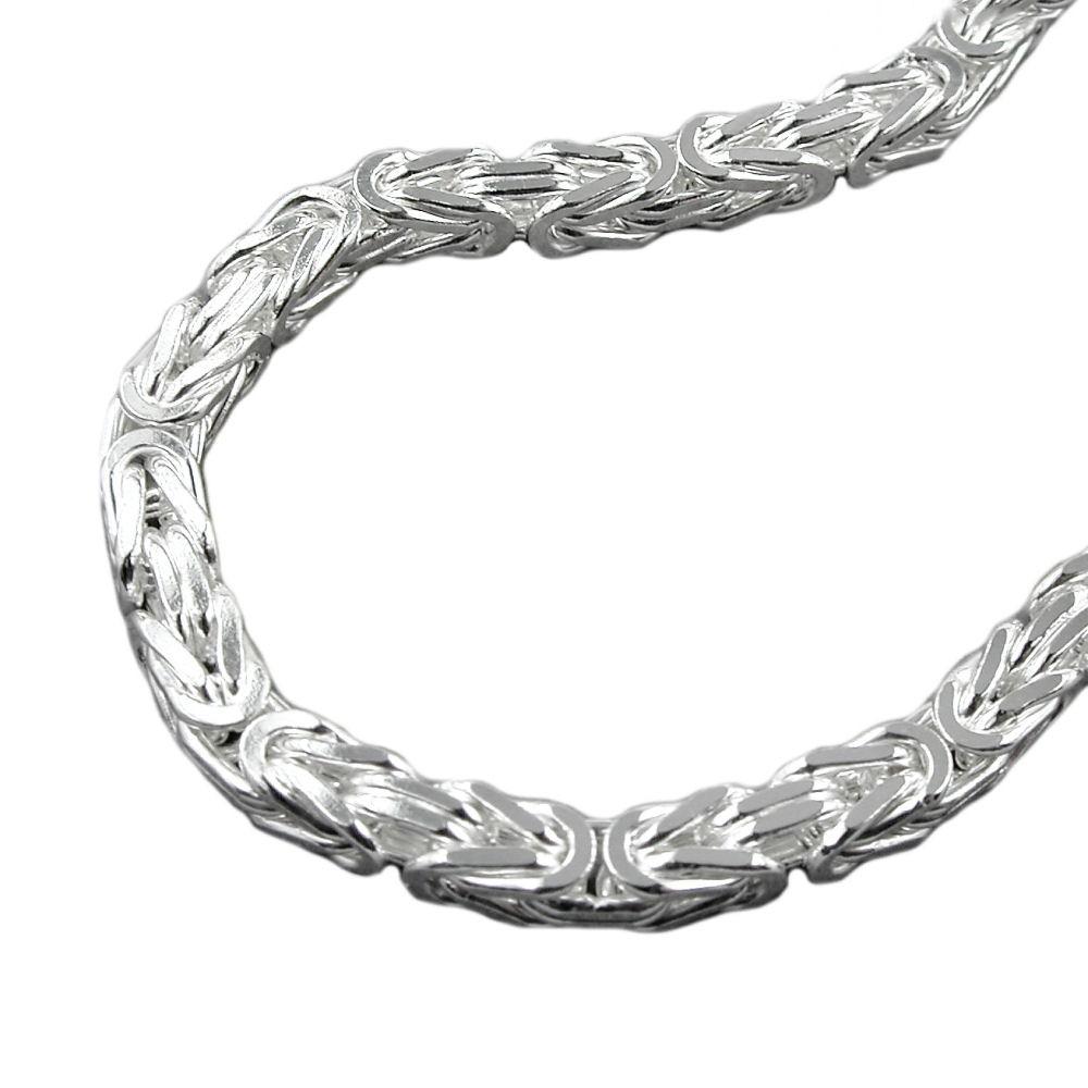 Kostenloser Versand 185bd 7bac3 8mm Königskette Halskette Kette Halsschmuck, 925 Silber, 60cm, Herren