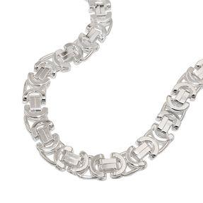 8x4mm Kette Königskette glänzend 925 Silber Halsschmuck für Herren, 50cm