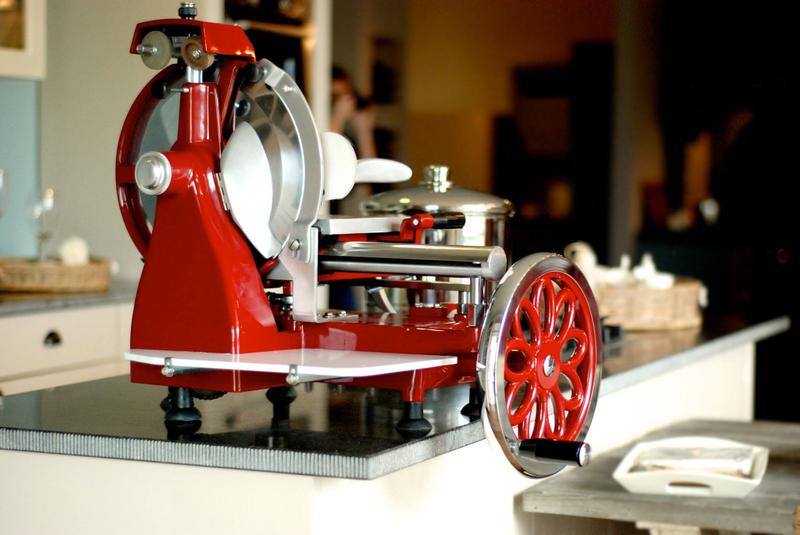 Volano 300  mit Blumenrad - Aufschnittmaschine Schwungradmaschine  – Bild 2