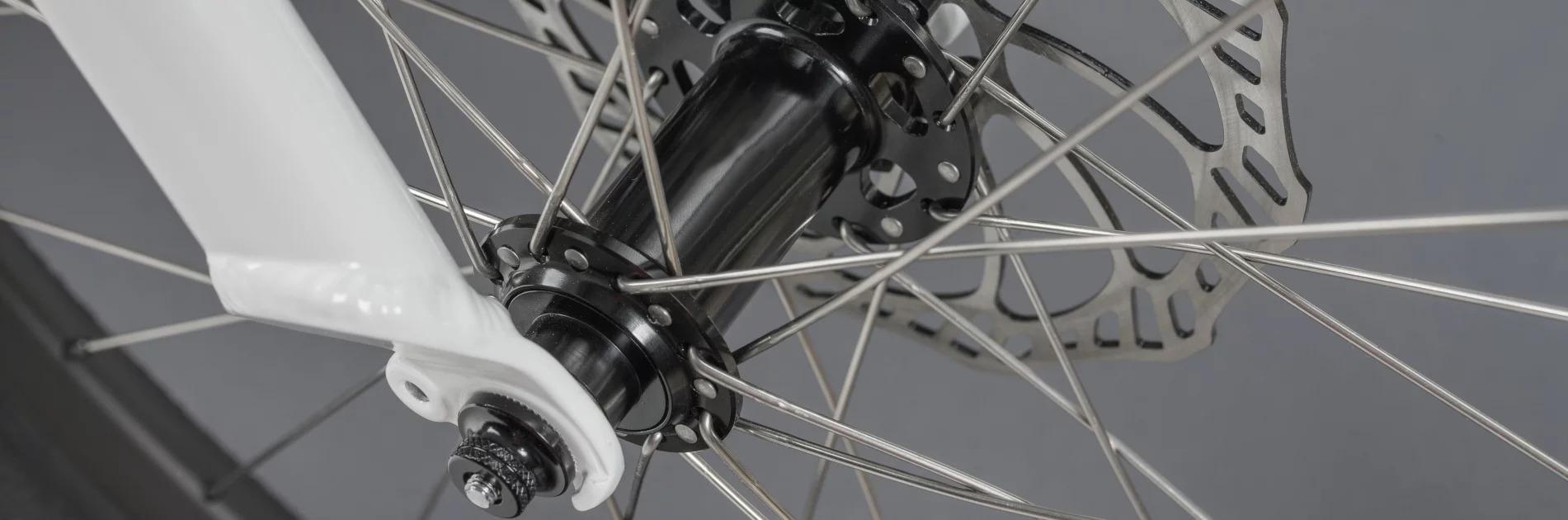 Radnabe an unserem ben-e-bike TWENTY Kinder-E-Bike