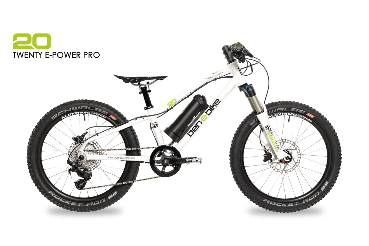 ben-e-bike TWENTY E-Power Pro Kinder-E-Bike mit Federgabel