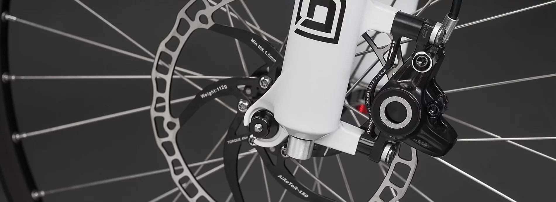 Bremsscheibe an einem Ben-E-Bike Jugendrad