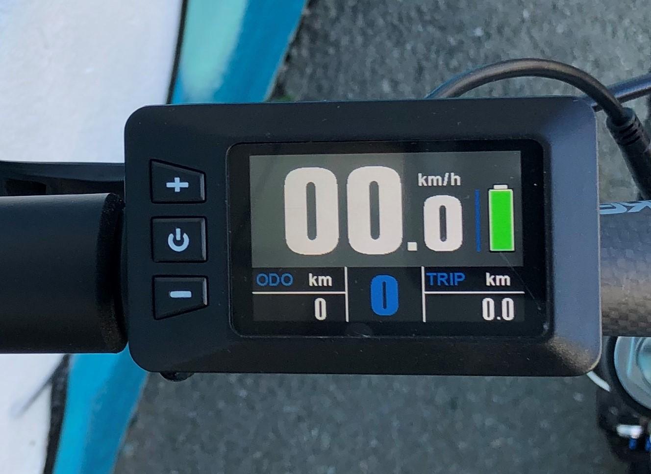 TFT Farbdisplay am Lenker des E-Bikes