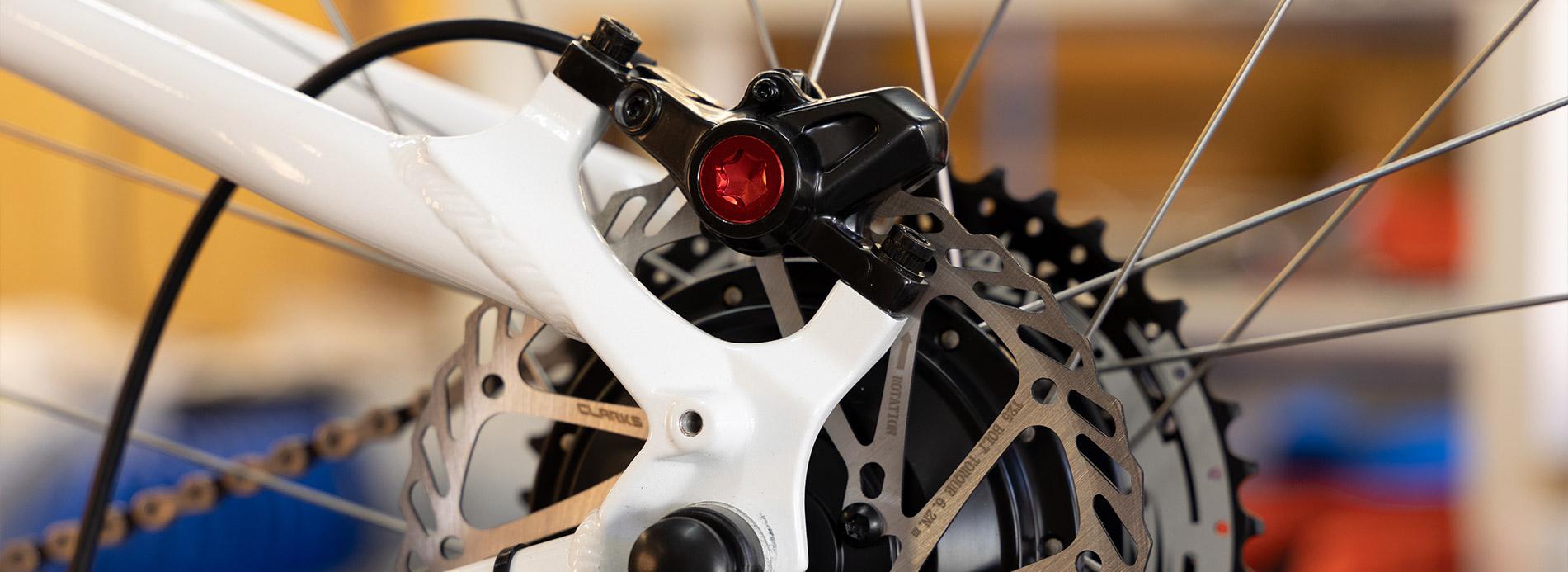 Bremse an einem Ben-E-Bike Kinderrad - Jugendrad