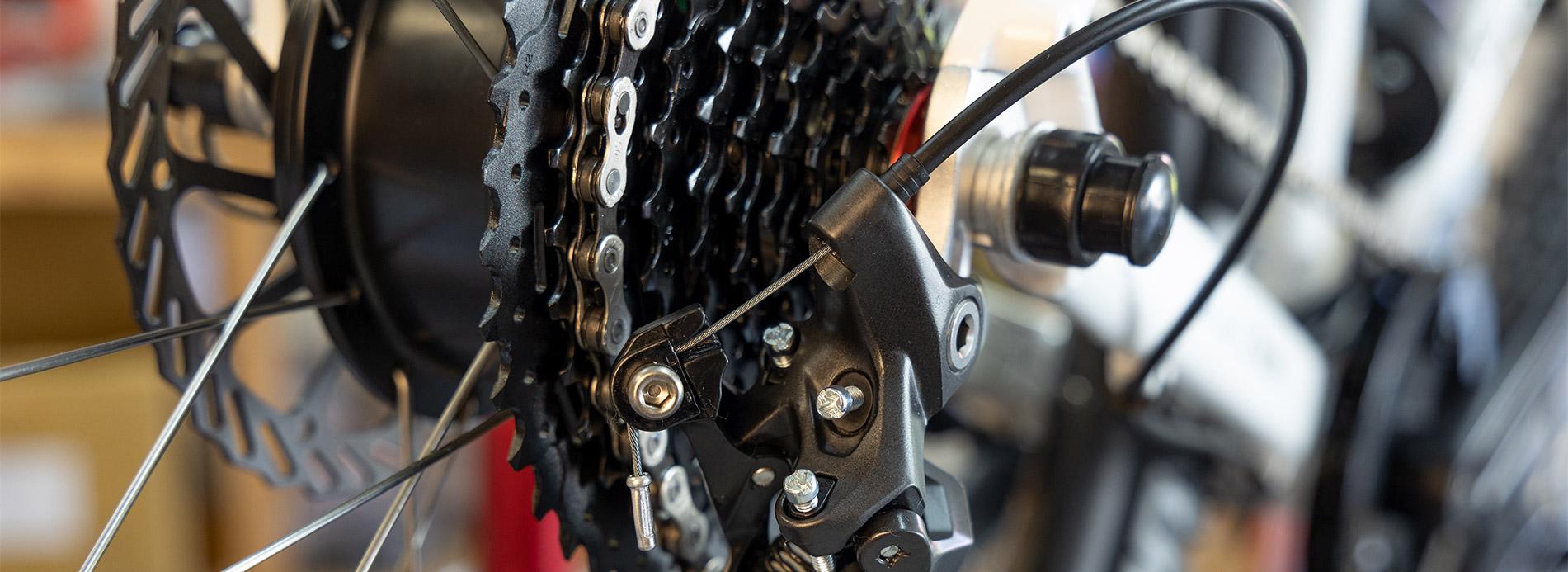Schaltwerk an einem Ben-E-Bike Kinderrad - Jugendrad