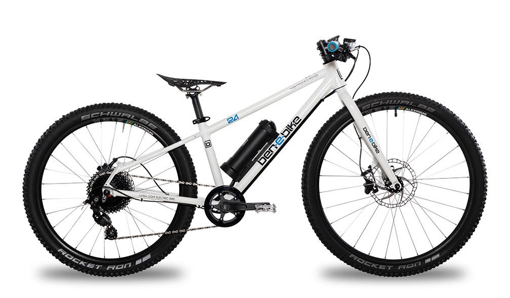 white boys electric bike by Ben's E-Bikes