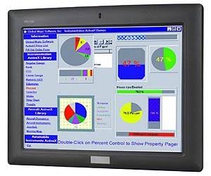 "AFL-10A-LX/WT-R/512MB, 10.4"" TFT LCD PanelPC, Resistive Touch Screen, AMD Geode LX-800 500MHz CPU, 512MB DDR RAM, 2xLAN"