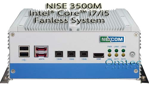 NISE 3500M, Intel® Core™ i7/i5 Fanless System with IEEE 1394b, eSATA, HDMI and one Expansion Slot – Bild 1