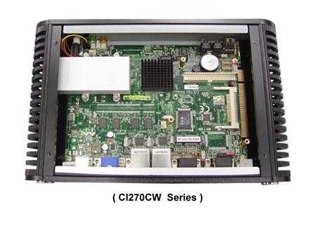 "Lex Neo  (NE2781-00C) CI270C""fanless"" Intel Atom N270 1.6GHz CPU, without RAM,2xGbit LAN, 4xUSB, 4xCOM – Bild 3"