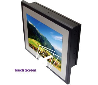 "10.4"" TFT LCD Fanless Panel PC Slim Series, Touch Screen, 3I525C Intel Atom D525 1.8GHz CPU Board, 1GB DDR3 onboard+Up t – Bild 2"