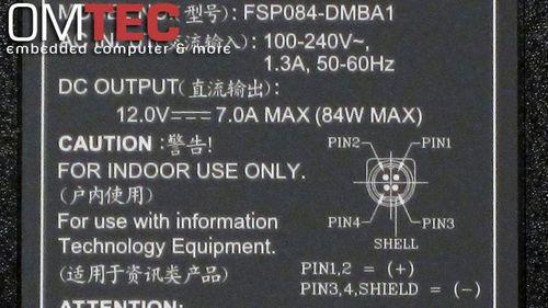 FSP084-DIBAN2 Netzteil 12V-7A-84-Watt 4pin Stecker    – Bild 2