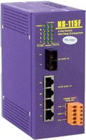 1 port Fiber Optic ,4 port 10/100M RJ-45 connecto