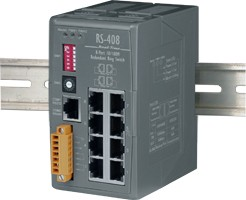Industrial Redundant Ring Switch with 8 10/100 Ba