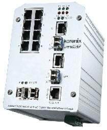 Korenix JetNet 5012G Ethernet Switch (12 Ports)