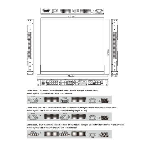 Korenix JetNet-5628G/Op.JNM5-2SFP/4SSC Modul – Bild 2