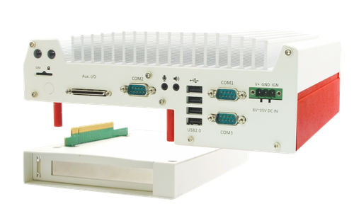 Nuvo-5006P - Lüfterloser Embedded PC für Intel Skylake Core-i CPU, 6x GbE, PCI Kassette und MezIO – Bild 2