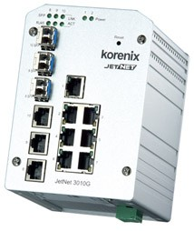 Korenix JetNet 3010G Ethernet Switch (10 Ports)