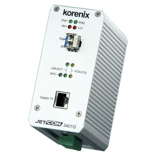 Korenix JetCon 3401G Gigabit Media Konverter  – Bild 1