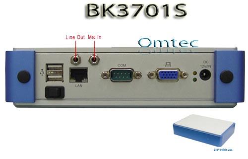 """Lex Brik 3I270A (BK3701S-00C), Fanless Embedded Server Intel Atom N270 1.6GHz w / VGA, 1GB DDR2 RAM, Gbit LAN, 2.5""""HDD – Bild 1"""