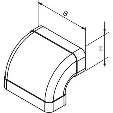 Gutmann Kanalbogen vertikal 90° TZ 8010