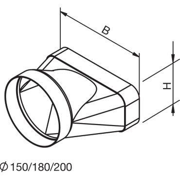 Gutmann TZ 8006 Endstück für Übergang von flach auf rund