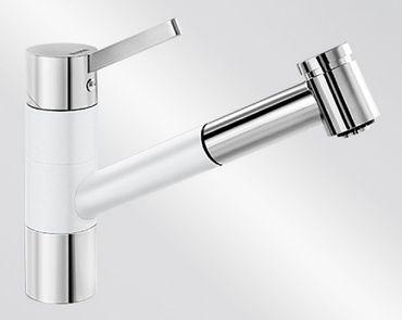 BLANCO TIVO-S Einhebelmischer Niederdruck SILGRANIT®-Look silgranitweiß / chrom 518428