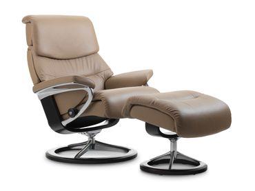 Stressless Set: Capri Signature Sessel mit Hocker, Größe M, Leder Paloma