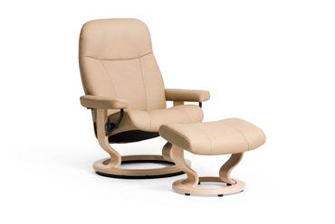 Stressless Set: Garda Classic Sessel mit Hocker, Größe S, Leder Paloma