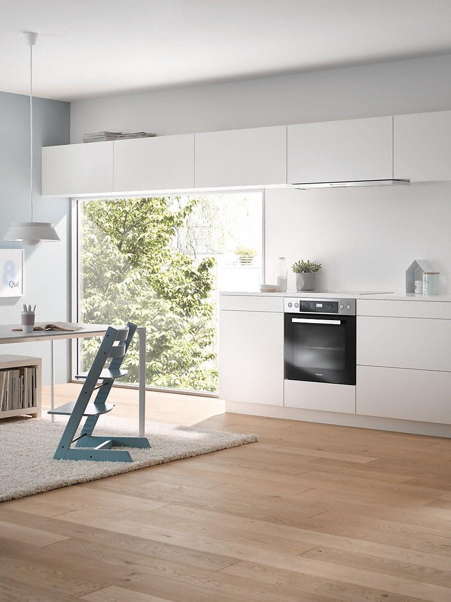 miele herd h 2268 e active edelstahl cleansteel inkl 5 jahre garantie von miele bei mykitchens. Black Bedroom Furniture Sets. Home Design Ideas