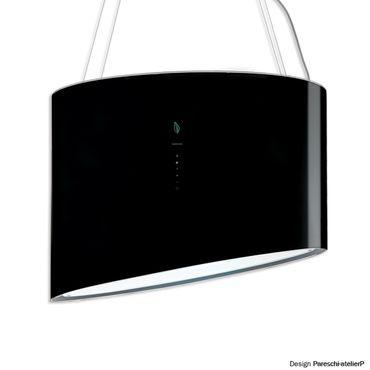 Falmec Inselhaube Spring E.ion Glas schwarz inkl. 5 Jahre Garantie