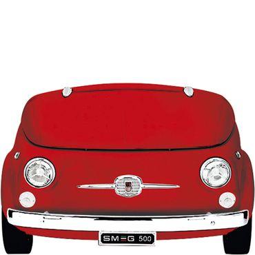 Smeg Kühlvitrine-Minibar im Fiat 500 Retro-Design SMEG500R Farbe Rot inkl. 5 Jahre Garantie