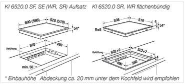Küppersbusch KI 6520.0 SR Induktionskochfeld schwarz, rahmenlos inkl. 5 Jahre Garantie