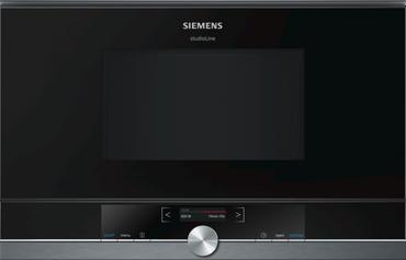Siemens Studioline BF834LGB1 Einbau-Mikrowellengerät blackSteel Design inkl. 5 Jahre Garantie