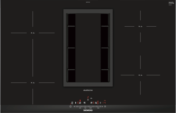 Siemens studioline ed877fs21e induktions kochfeld mit integriertem