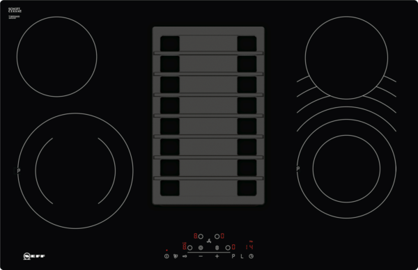 Neff t pd ax elektrokochfeld mit integriertem kochfeldabzug inkl